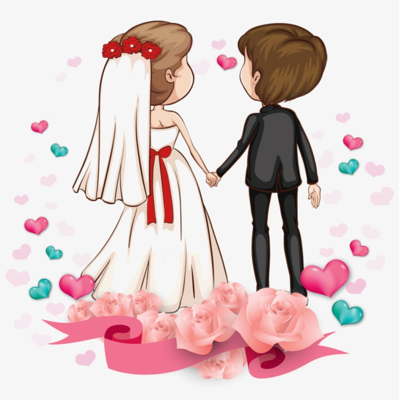 Wedding Couple Clipart Free Download - Wedding Couple Cartoon Png