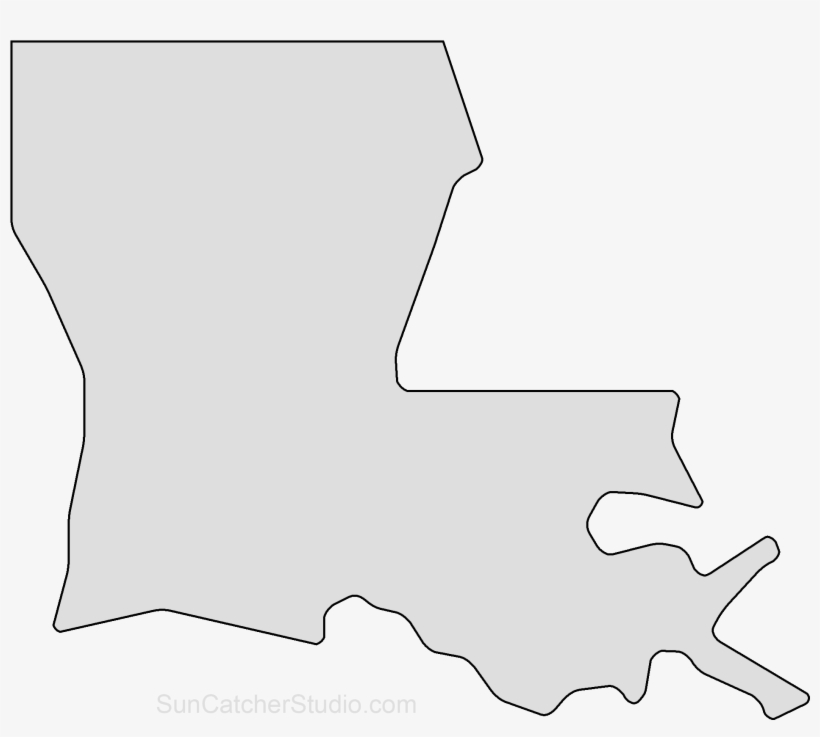 Map Outline, Printable State, Shape, Stencil, Pattern - Louisiana