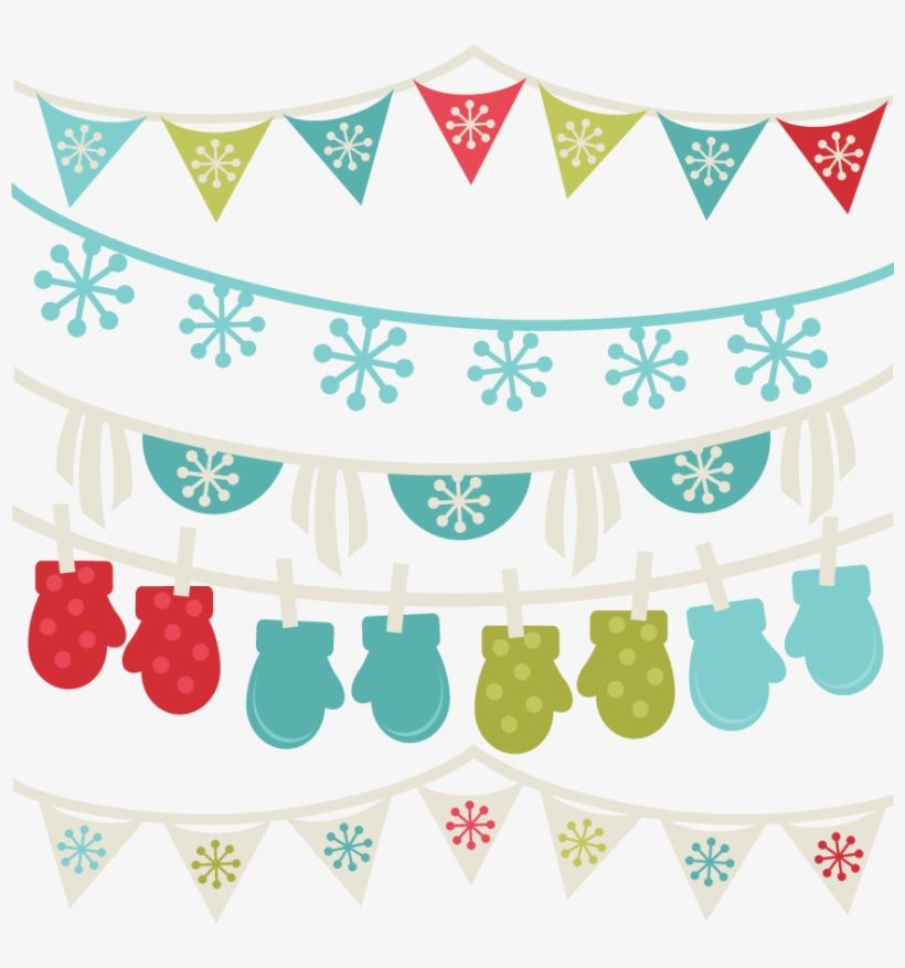 Png Freeuse Download Free Winter Borders Banners Svg - Clipart