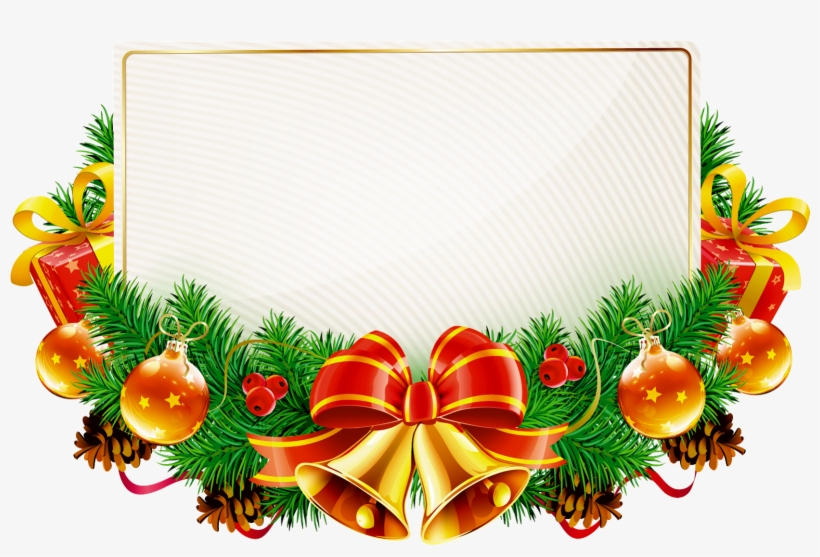 Natal Em Png - Christmas Frames Transparent Background - 1600x1061