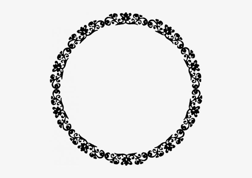 Decorative Round Border Frame Vector Clip Art - Circle Border Vector