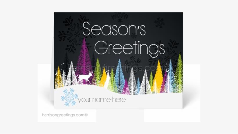 Business Happy Holidays Greeting Cards - Orange Venue Kar Üstüne