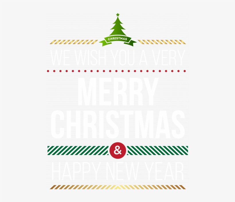 Merry Christmas And Happy New Year Banner 2 With Vector - Free Clip
