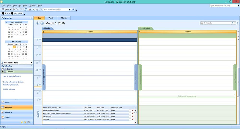 How to merge  combine two calendars Microsoft Outlook 2007 PT IT