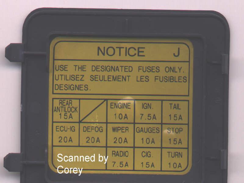 95 toyota pickup fuse box diagram