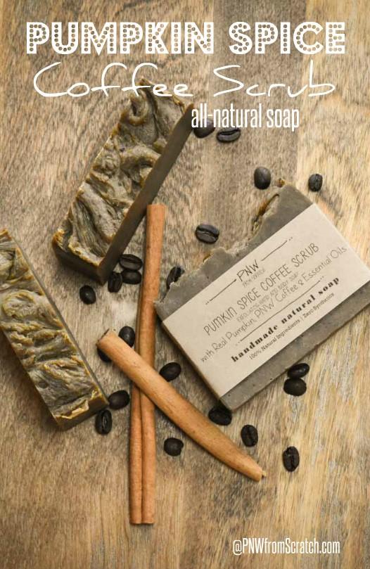 Pumpkin Spice Coffee Scrub Soap
