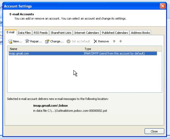 Pobox Help Outlook 2007 (setting up account for the first time) - create outlook account