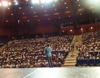 The VoiceMaster on the STI National Youth Convention in Aliw Theater