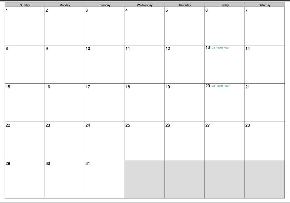 Printable Calendar 2017 - Informant Priorities for print - printable calendar