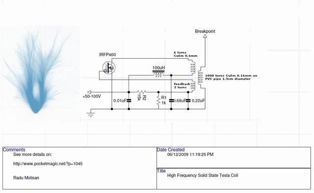 High Frequency Solid State Tesla Coil (HF SSTC) \u2013 PocketMagic