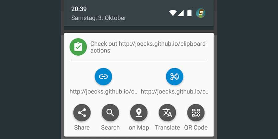 Clipboard Actions for Android can upgrade Copy  Paste functions to