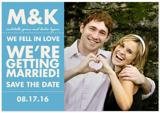 Save the Date Photo Wedding Cards As Low As 27Ã\u201a¢ Each