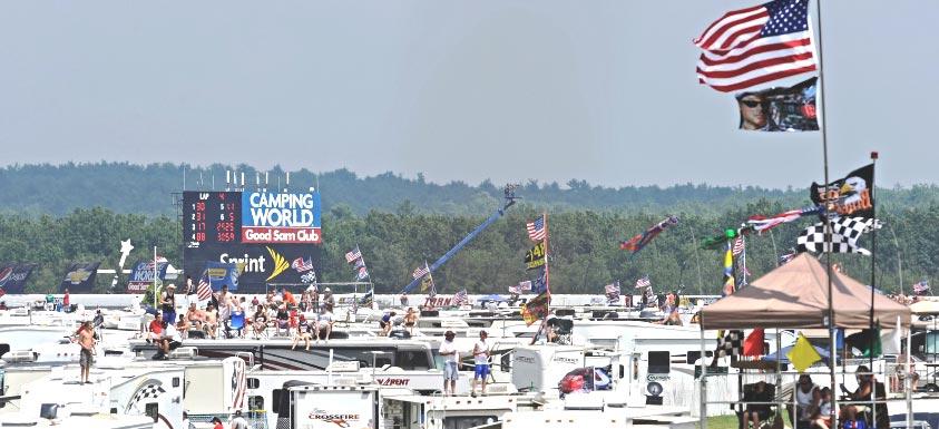 Pocono Raceway - Camping Map