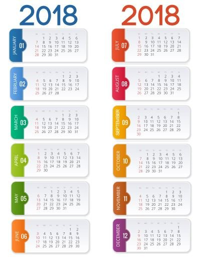 2018 Podia Calendar Inserts - Podia - 12 calendar