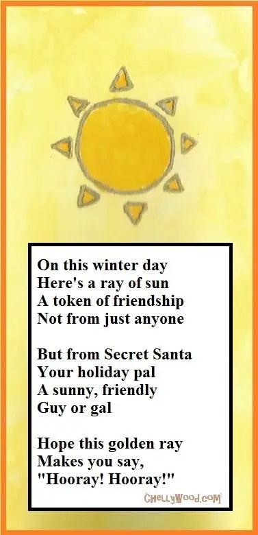 Secret santa Poems