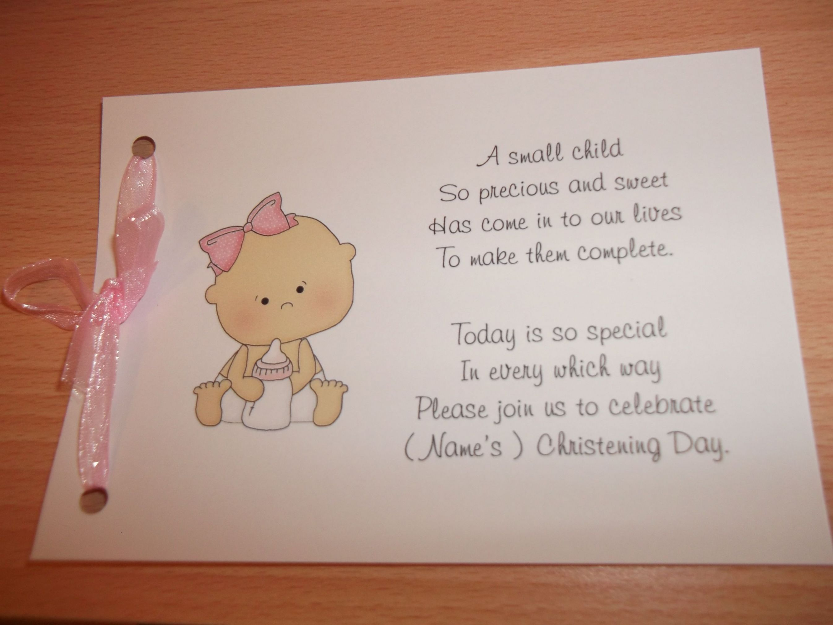 Christening Poems