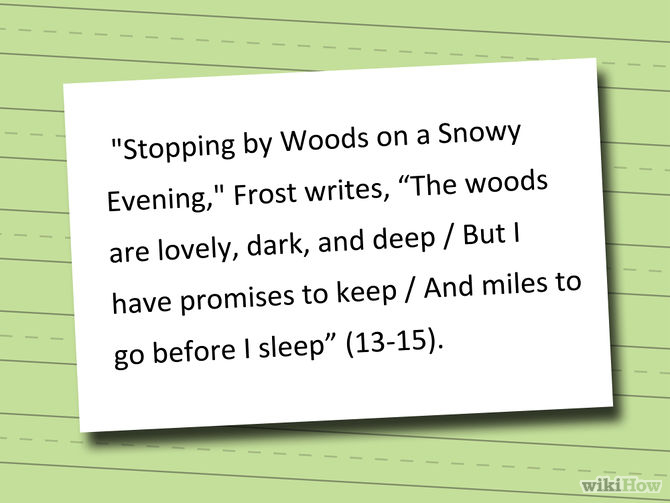 Quoting Poems