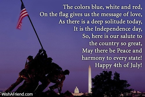 Fourth of july Poems