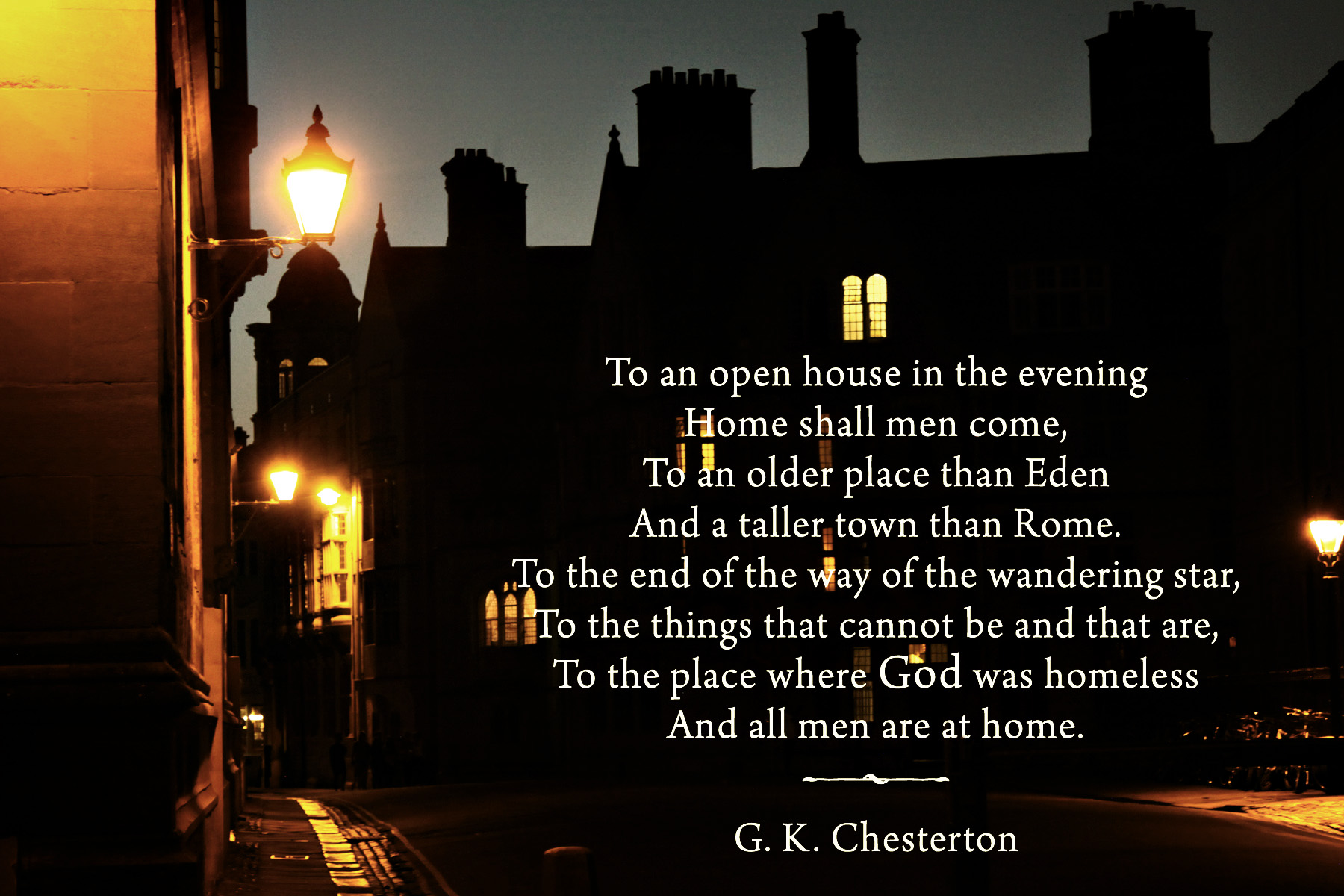 Gk Chesterton Poems