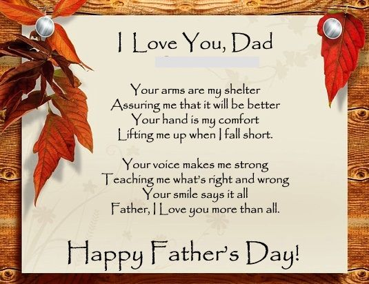 Funny fathers day Poems - father day cards from daughters