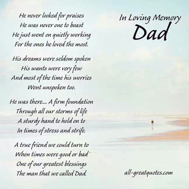 Nice funeral Poems - funeral words for cards
