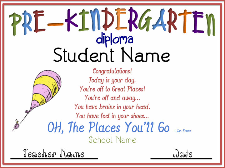 preschool certificate printable - Tikirreitschule-pegasus - kindergarten graduation certificates