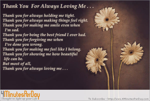 thank you for loving me letter - Deanroutechoice