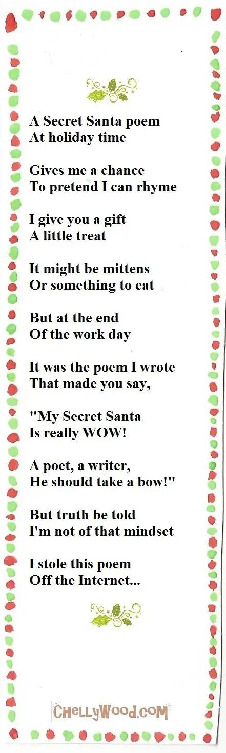 Short Secret Santa Riddles wwwpicswe