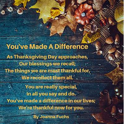 Thanksgiving Poems, Wishes, Sayings Celebrate Blessings