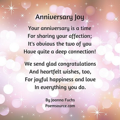 Anniversary Poems Show You Remember and Care