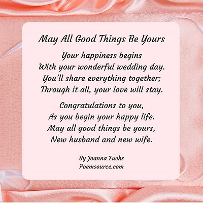 Wedding Poems For All Aspects Of The Wedding