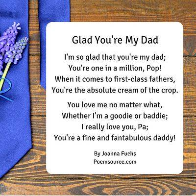 Father Poems To Show Dad He\u0027s the Man!