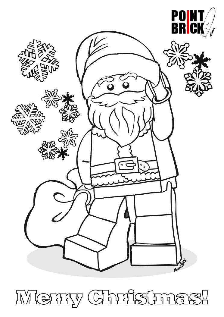 Point Brick Blog Disegni Da Colorare Lego Buon Natale A