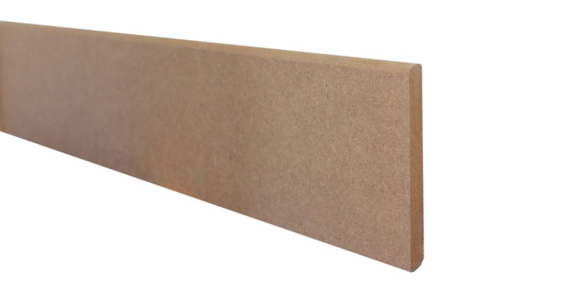 GASCOGNE - Plinthe MDF Profilio - brut à peindre - L 2,20 m - 9x100 - Plinthes Bois A Peindre