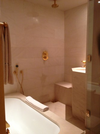 Shower and tub park hyatt paris vendome