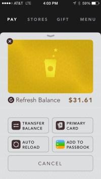 gold card starbucks app