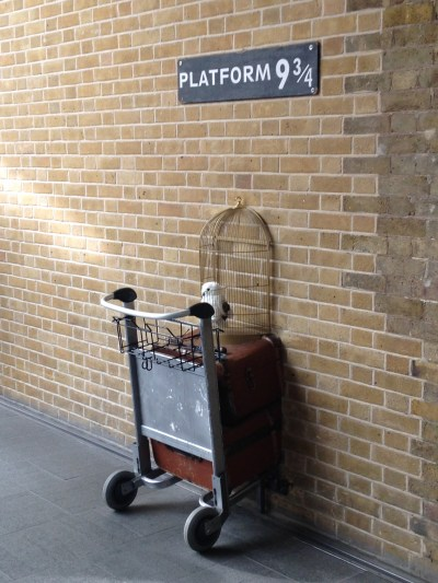Platform 9 3/4 at King Cross train Station