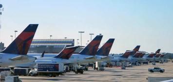 Delta Planes lined up in Atlanta!