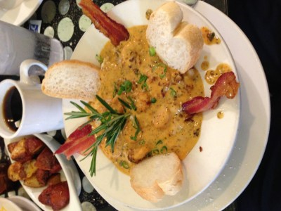 shrimp and grtis surrey's new orleans breakfast