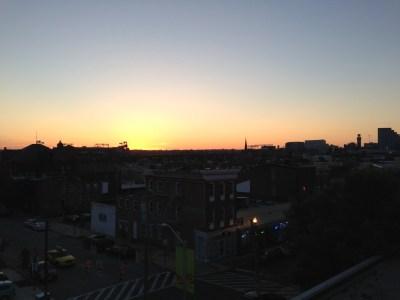 Baltimore maryland sunset
