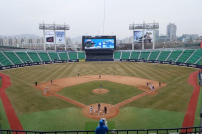 seoul south korea baseball doosan bears jamsil stadium