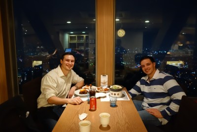 seoul south korea tower city view hancook dinner