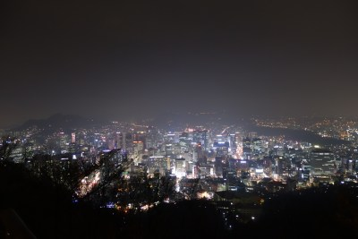 seoul south korea tower city view