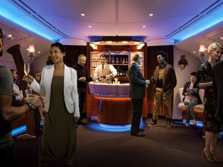 Emirates A380 777 first business class shower bar points award
