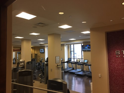 hyatt regency hotel stl st. louis gym cardinals stadium downtown