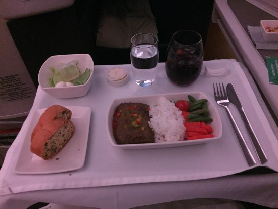 cathay pacific business class j cx flight review mle hkg hong kong maldives male
