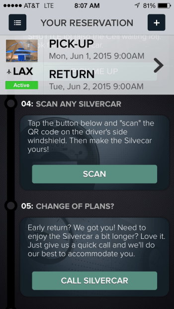 silvercar car rental LAX code
