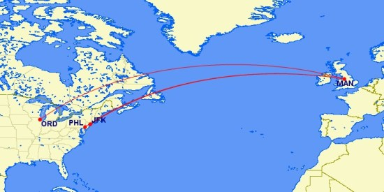 routes to MAN on american airlines