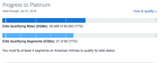 American Airlines Miles Earning Chart