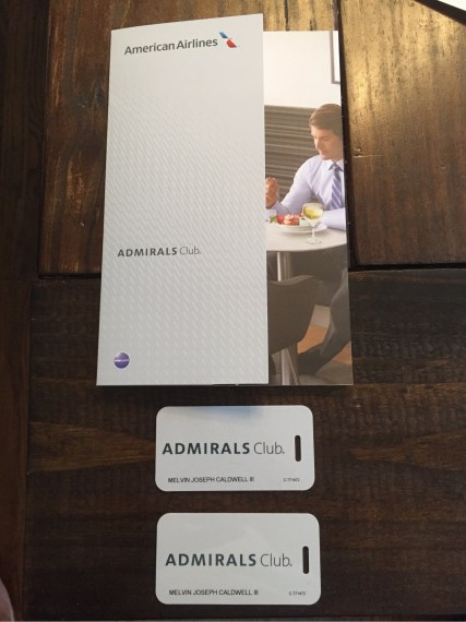 American Airlines Admirals Club Bag Tags